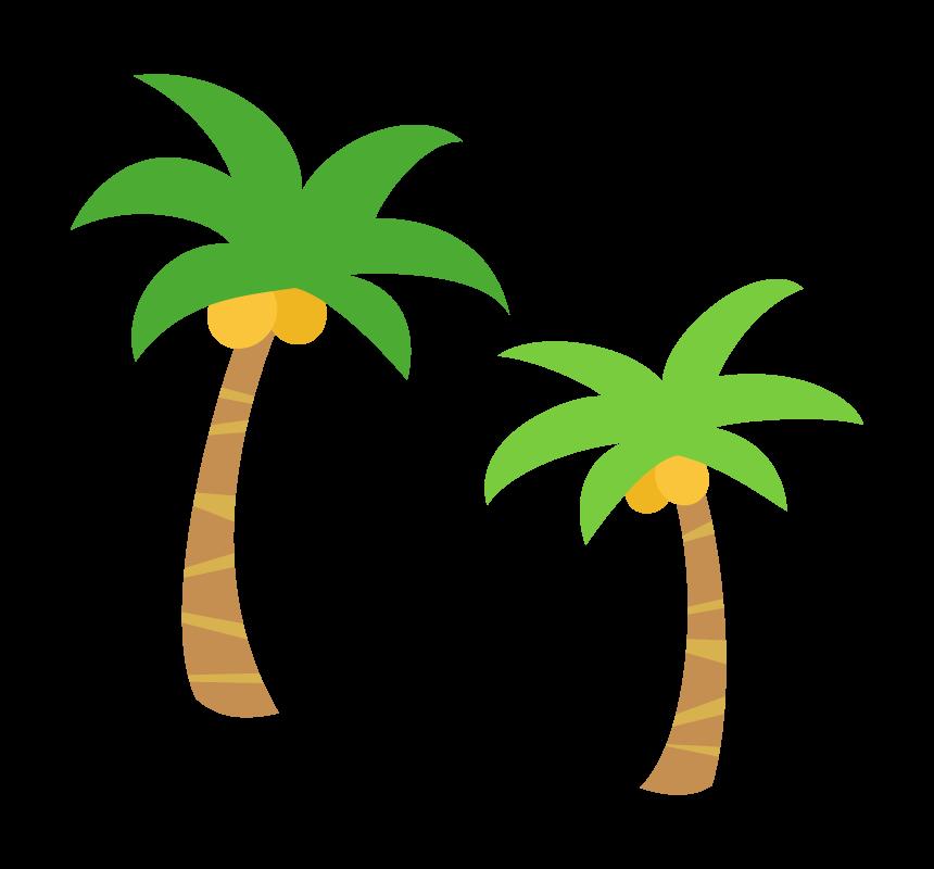 2本のヤシの木のイラスト