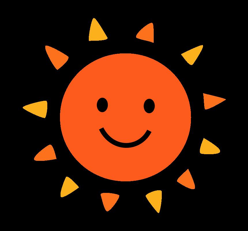 かわいい太陽のイラスト