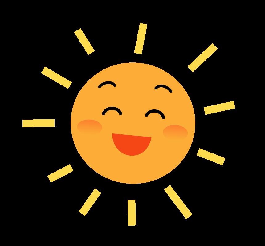 笑顔の太陽のイラスト