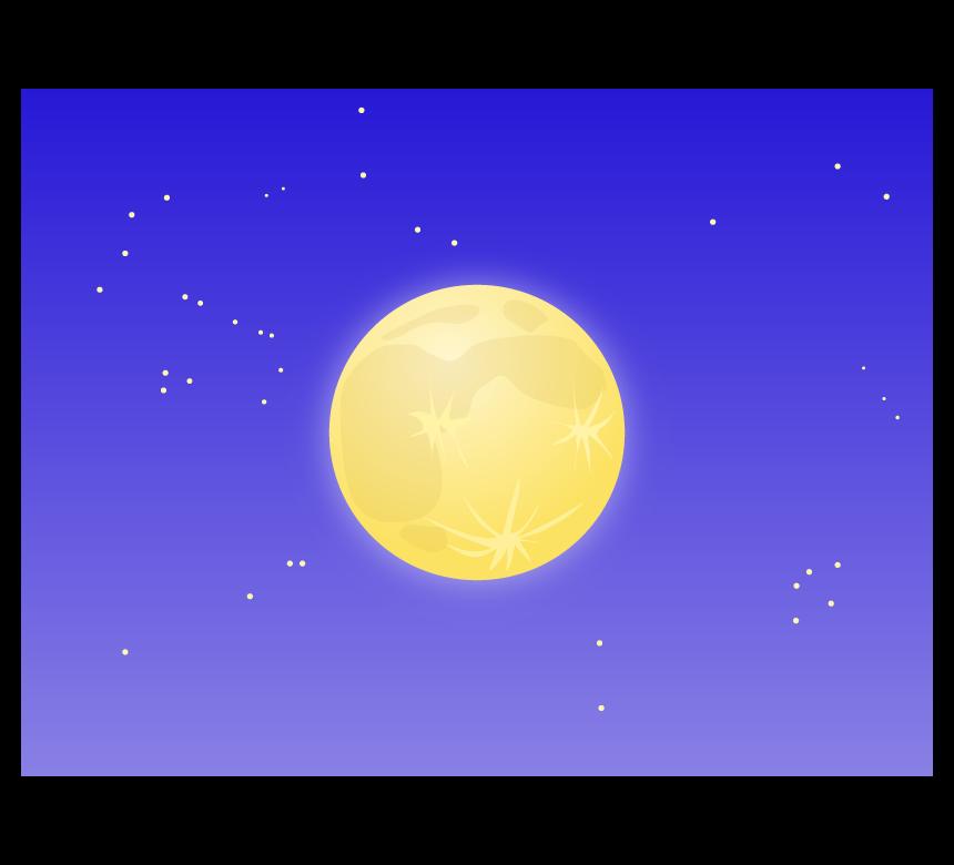 満月と夜空のイラスト