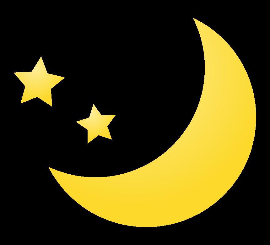 三日月と星のイラスト