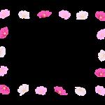 コスモス(秋桜)の花の囲みフレーム・枠イラスト