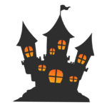 ハロウィン・お城のイラスト