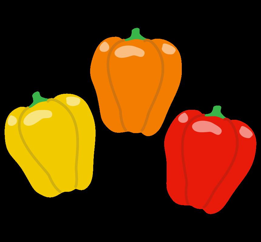 3色のパプリカのイラスト
