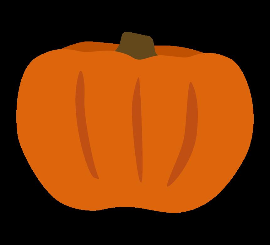 オレンジ色のかぼちゃ(南瓜)のイラスト