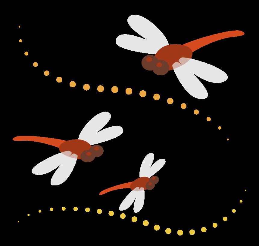 3匹の赤トンボのイラスト
