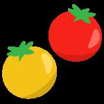 赤と黄色のプチトマトのイラスト