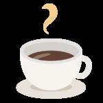 白いカップのホットコーヒーのイラスト