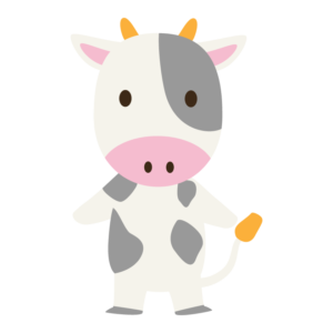 かわいい牛のイラスト
