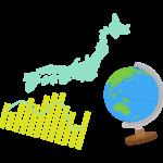 地球儀やグラフの社会科のイラスト
