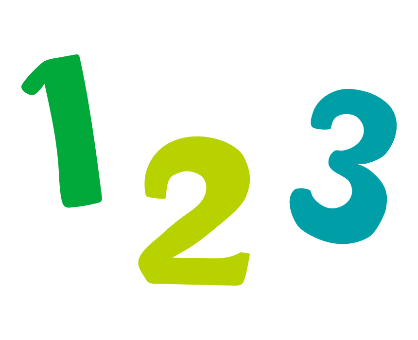 「123」数字のイラスト